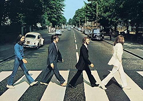Bmstjk The Beatles Jigsaw Puzzle Rompecabezas de Madera, Descompresión Adulta Juguete Arte Ocio Juego Educativo 1000 Piezas Rompecabezas