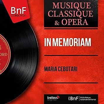 In memoriam (Mono Version)