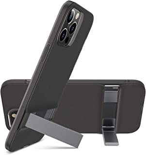 ESR Metal Kickstand Compatible with iPhone 12 Case/Compatible with iPhone 12 Pro Case (2020) [Patented Design] [Two-Way Stand] [Reinforced Drop Protection] Flexible TPU Soft Back, 6.1-Inch – Black