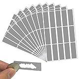 LYTIVAGEN 150 Stück Rubbel Etiketten Scratch Off Label Rubbellos Aufkleber 49 x 16mm Scratch...