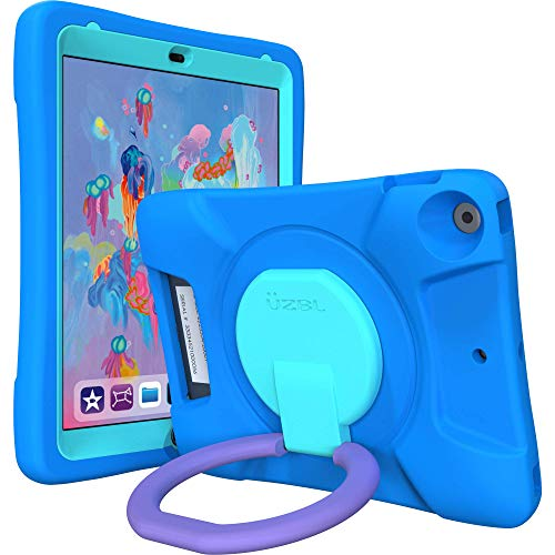 UZBL Kids Case for iPad 10.2, Cushy Case, Bouncy Protective Eva Material with Carrying Handle and 360 Stand for iPad 10.2 7th Generation