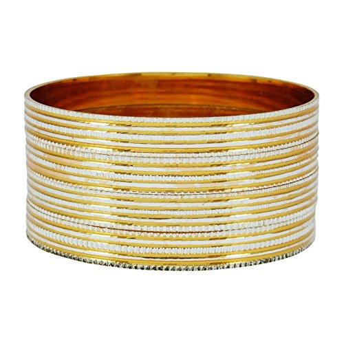 Banithani 18k vergoldet Armreifen indische traditionelle Armband Schmuck 2 * 4 Geschenk für Frauen