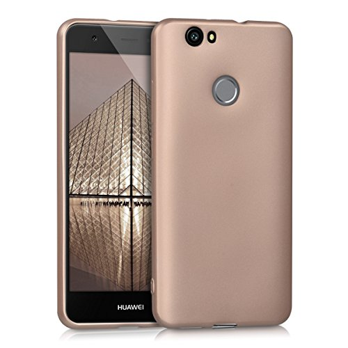 kwmobile Hülle kompatibel mit Huawei Nova - Handy Hülle Metallic Rosegold