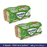 Nutribén Potitos Introducción A Las Judías Verdes Y Patatas Desde Los 4 Meses, 2 Bipacks (4 X 120 Gr.)