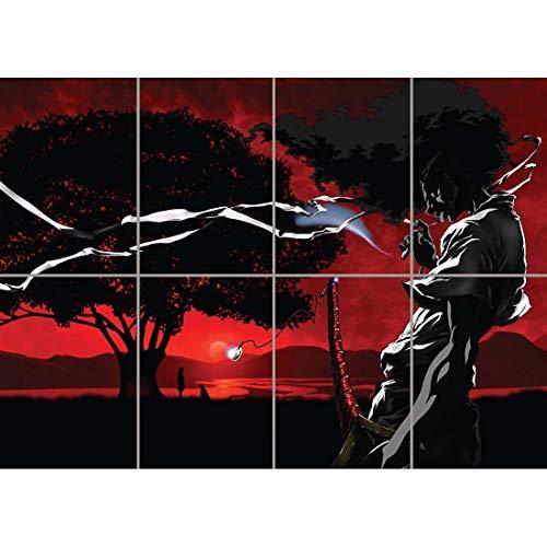 Doppelganger33 Ltd Afro Samurai Anime Manga Unique Arte de la Pared Multi Panel de Carteles 47x33 Pulgadas