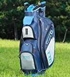 TTD TIANTIANDA 10 Pocket Golf Cart Bag - 14 Way, Blue