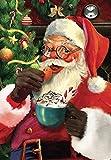 RICUVED Kits de pintura de diamante de Papá Noel 5D, taladro completo, arte de diamante de Navidad, para decoración de la pared del hogar, pintura de diamante para adultos, 30,5 x 40,6 cm