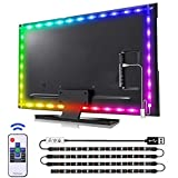 findyouled Gaming Lights, 6.6ft USB Powered LED Strip Lights with Remote Controller, Background