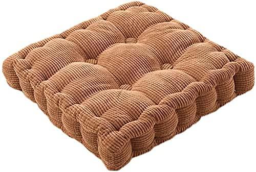 QiuiuQ Cuscino per Sedile per Sedia da bistrot da Giardino, Cuscino da Esterno Leggero e Confortevole per Cuscini per mobili a Motivi Geometrici per sedie da Patio in Rattan, marrone-45x45 cm