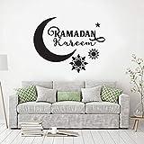 Etiqueta de la pared pegatina muselina calcomanía cita Eid Murabak Ramadán...