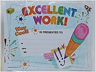 Back to School Teaching Tree Office Resources Teacher Teacher's Classroom (Bonus 96ct Reward Stickers) Children Award Certificate 15 Pack Recognition Cards Excellent Work