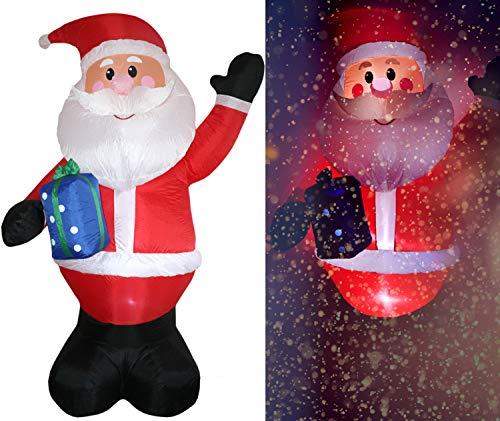 Tronje XXL LED Babbo Natale gonfiabile 300cm X-Mas Santa Claus Nikolaus Ventola permanente Esterni