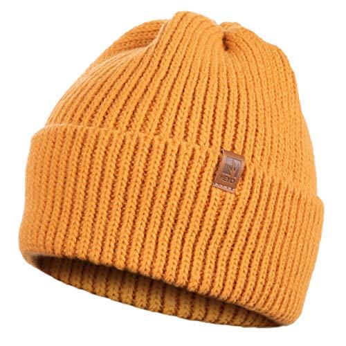 HEYO Damen Wintermütze   gestrickte Dicke Mütze   H18595   Warme Strickmütze   Made in EU   Farbenauswahl (Senf)