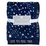 Wendy Bellissimo Super Soft Plush Baby Blanket - Stars Baby Blanket in Navy & Grey (30x40)