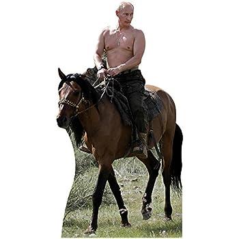 Wet Paint Printing + Design H10132 Shirtless Putin Riding Horse Cardboard Cutout Standup