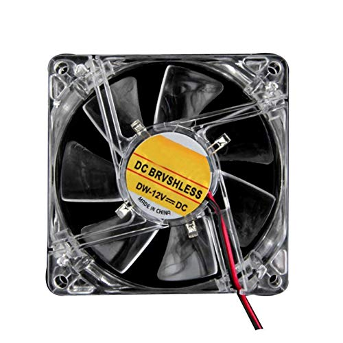 Ventilador de enfriamiento de alto rendimiento Tamaño del ventilador: 80x80x25mm colorido de cuatro canales 4  del LED luz de neón 80mm transparente caja de la computadora PC ventilador de refrigera