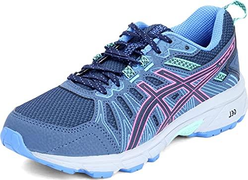ASICS Women's Gel-Venture 7 Running Shoes, 8M, Peacoat/HOT Pink