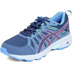 ASICS Women's Gel-Venture 7 Running Shoes, 8, Peacoat/HOT Pink