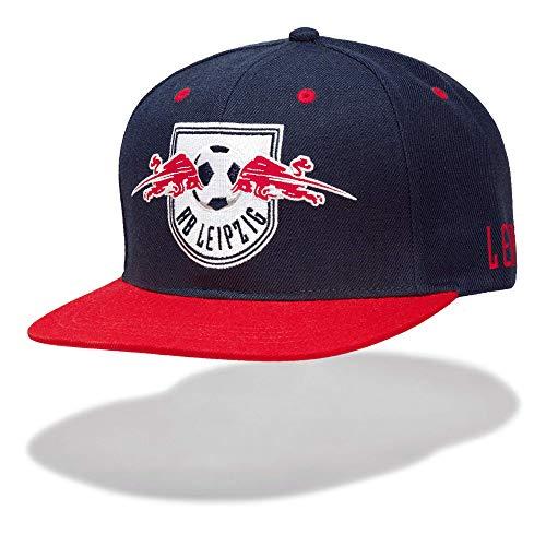 RB Leipzig Median Flat Cap, Blau Herren One Size Flat cap, RasenBallsport Leipzig Sponsored by Red Bull, Original Bekleidung & Merchandise