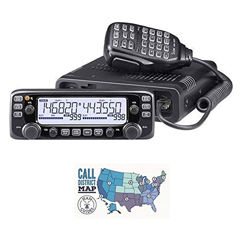 Bundle - 2 Items - Includes Icom IC-2730A Dual-Band VHF/UHF 50W Mobile Transceiver and Ham Guides TM Quick Reference Card