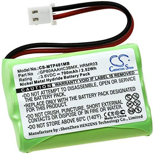 Batterij voor Babyfoon Motorola MBP481 / MBP482 / MBP483, 3,6V, NiMH