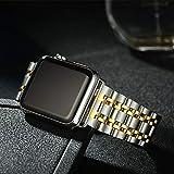 QAZWSX Clásico For Apple Cadena de Reloj de la Correa de Metal Reloj de Acero Correa de la Venda del Reloj for Apple Serie 1 2 3Watchbands iWatch 38mm 42mm Pulsera de la muñeca Ambiente Sencillo