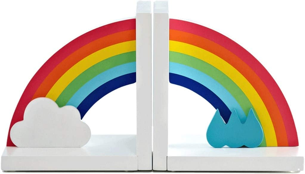 NNR Very popular! Bookend Children's Book Stand Rainbow Inventory cleanup selling sale end Ho Cute