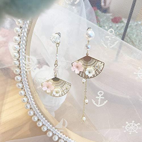 feilai Pendientes de metal elegantes con diseño de gato para mujer, joyería de día festivo (color del metal: rosa).