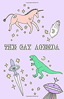 Notebook: The Gay Agenda - Funny LGBTQ Notebook Beautiful Design: 5.5