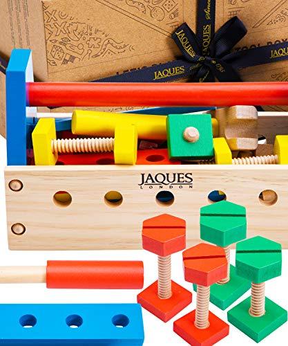 Jaques of London Werkzeugkoffer Kinder | Qualität Kinder Werkzeugkoffer Spielzeug ab 3 4 5 Jahre | Perfect Holzspielzeug | Seit 1795