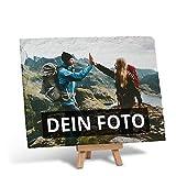 PhotoFancy – Schieferplatte mit Foto Bedrucken Lassen – Schiefertafel personalisiert – Schieferplatte mit deinem Foto und Staffelei zum Aufstellen (20 x 15 cm)