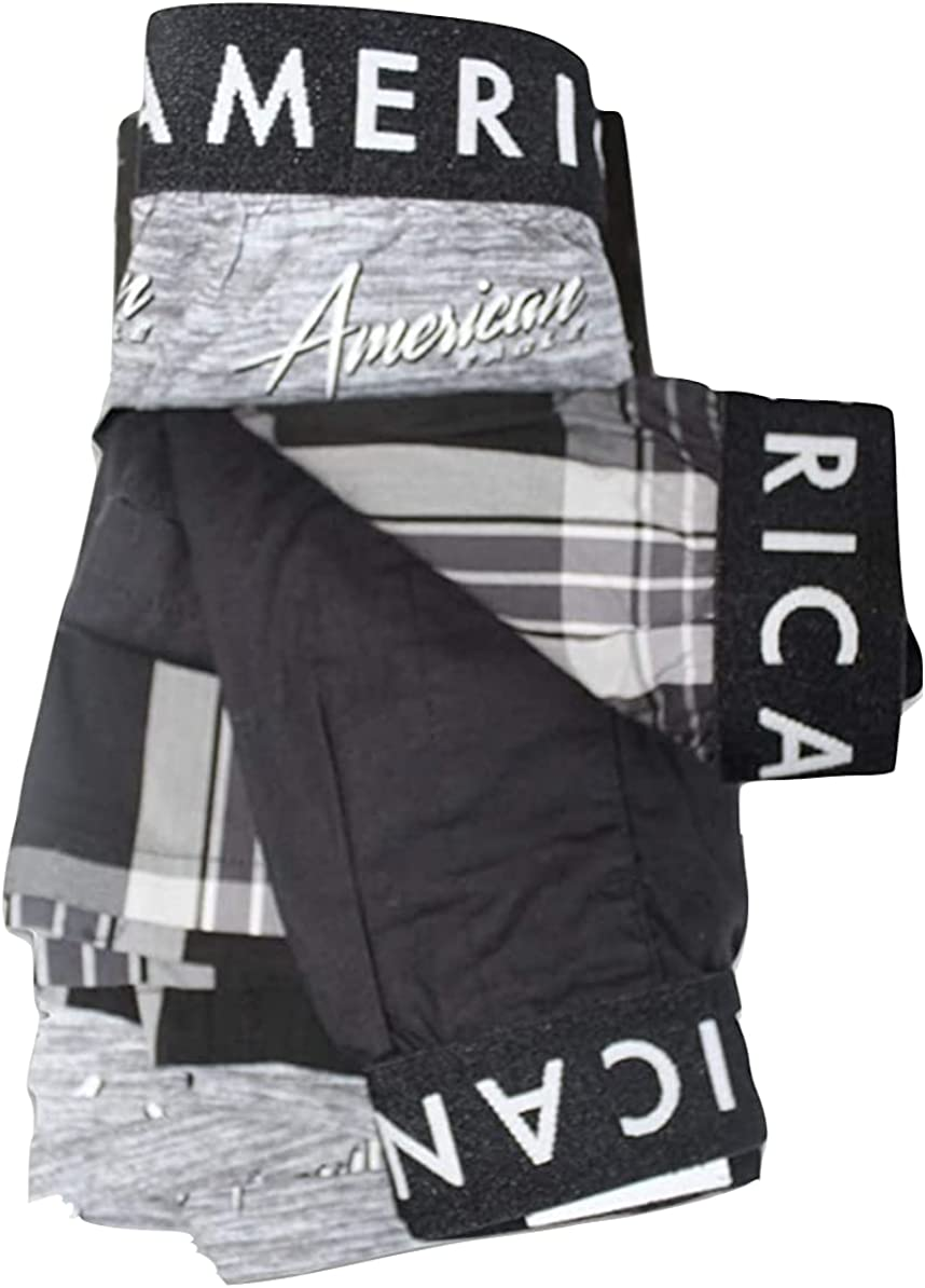 Inexpensive American Eagle AEO Men's 3 Medium OFFicial store Boxer Shorts Pairs Individual