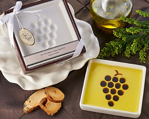 Artisano Designs Vineyard Select Olive Balsamic Oil Vinegar Dipping Plate