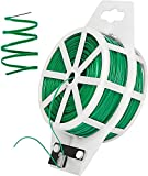 Corbatas para Plantas de jardín - 100m Alambre del Lazo del Jardín, Planta Soft Ties Wire con Cortador Lazo De Giro De árbol De Planta De Soporte Alambre Resistente para Jardinería, Hogar, Oficina
