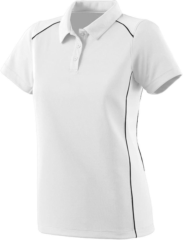 5092 Ladies Winning Streak Sport Shirt WHITE BLACK M
