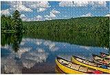 Remando en el Parque Provincial quetico y Boundary Waters Área de canoas Rompecabezas grandes de 1000 piezas para adultos Juguete educativo para adultos Niños Juego de rompecabezas grande Juguetes Re