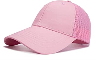 Yizhichu19900502 Unisex Plain Baseball Cap Blank Adjustable Strapback Structured Trucker Mesh Hat