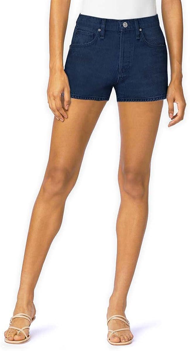 Hybrid & Company Womens 3 inch Reg 5 inch Plus Inseam Denim Shorts