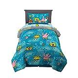 Franco Kids Bedding Super Soft Comforter and Sheet Set, 4 Piece Twin Size, Spongebob