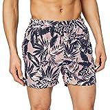 Superdry Swim Short Pantalones Cortos, Gris (Edit Palm Grey Pink T5c), M para Hombre