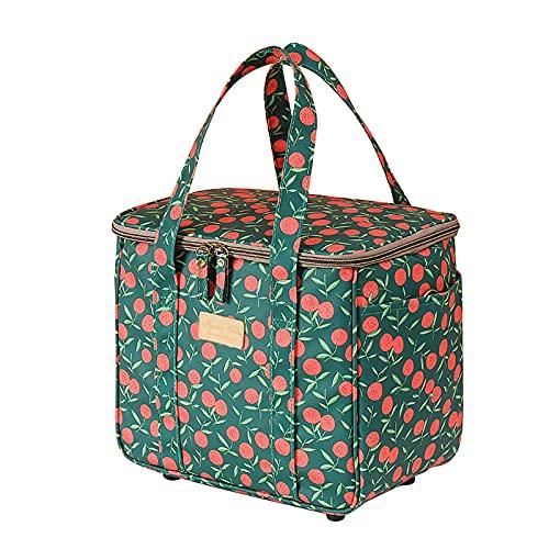 Nirant Picknick-Rucksack, tragbare Obst-Isoliertasche, Camping, Einkaufen, Kühltasche mit Tragegriffen für Wandern, Angeln, Reisen, Grillen, Grün