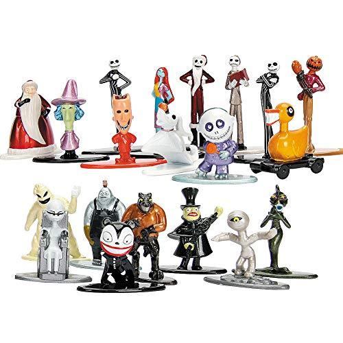 Jada- Nano MetalsFig Pack 20 figuras Pesadilla Antes de Navidad, Multicolor (0801310301227) , color/modelo surtido