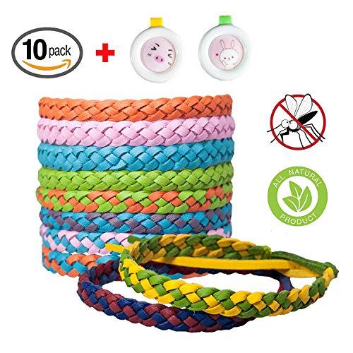 SeWooo Muggenwerende armband, anti-muggen Bracelet 100% natuurlijke plantenextracten Deet-Free | niet giftig | Waterdichte anti-insectenbanden