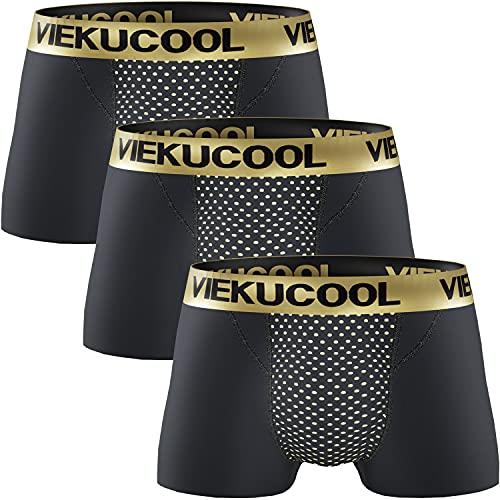 【トルマリン式 磁気パンツ】増大パンツ メンズパンツ下着 機能性下着 自信増大 3枚組 (ブラック, L(日本サイズS))