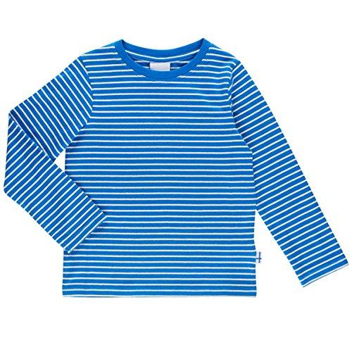 Finkid Sampo blue offwhite gestreiftes Kinder Jersey Ringel Langarmshirt