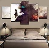 CXDM HD-Druck Bilder Gemälde Kunstwerk 5 Stück Anime Mobile Suit Eisenblut Poster Wandkunst Zum Wohnzimmer Schlafzimmer Hauptdekorationen,A,30×40×2+30×60×2+30×80×1