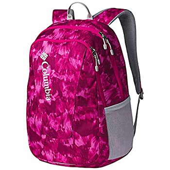 Columbia Unisex Tamolitch II Daypack Laptop School Student Backpack  Haute Pink Quartz Print/grey