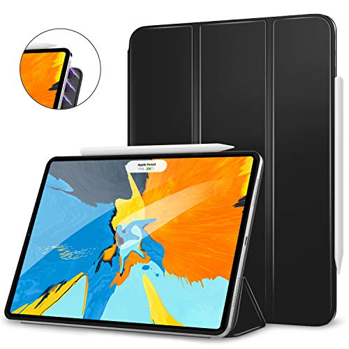MoKo Magnetic Smart Folio Case Fit iPad Pro 11 Case 2018 - [Support Apple Pencil Magnetically Attach Charge/Pair] Slim Lightweight Shell Stand Cover, Auto Wake/Sleep for iPad Pro 11 Inch - Black