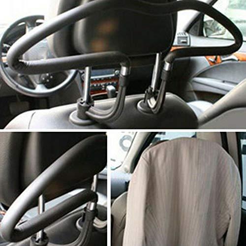 Inicio Auto Kleiderbügel PVC Rücksitz Kopfstütze Griff Kleiderbügel Reise Kleidung Jacke Anzug hängen Haken Träger