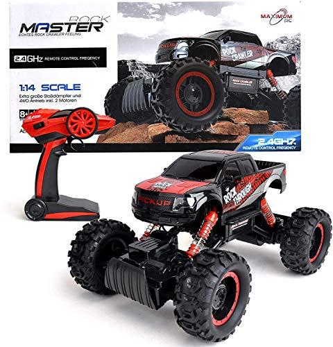 FunTomia Maximum RC Ferngesteuertes Auto für Kinder - 4WD Monstertruck - XL RC Auto für Kinder ab 8 Jahren - Rock Crawler (Auto)